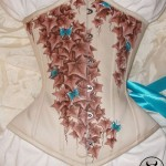 Beige underbust with butterflies