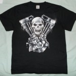 Theme of V-Twin engine with Skull