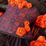Corset decorated with satin roses
