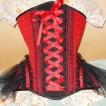 Red laced underbust