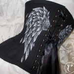 Winged black underbust