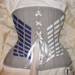 Grey cotton underbust made for cosplay